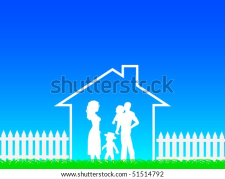 happy family - stock vector