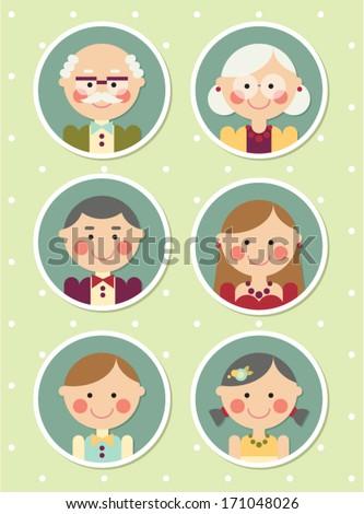happy family portrait - stock vector