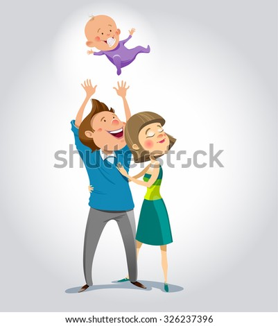 Happy family. Vector illustration. eps.10 - stock vector