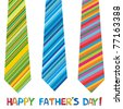 happy father day greeting card - stock photo