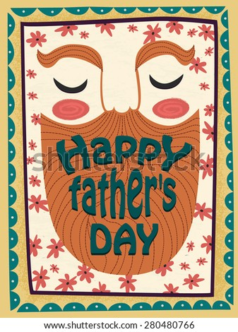 Happy father day greeting card. Vector design