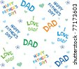 happy father day. seamless vector background. - stock vector