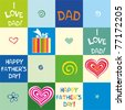 happy father day. Seamless  wallpaper. Vector Background. - stock vector