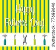 Happy Father's Day card in vector format. - stock vector
