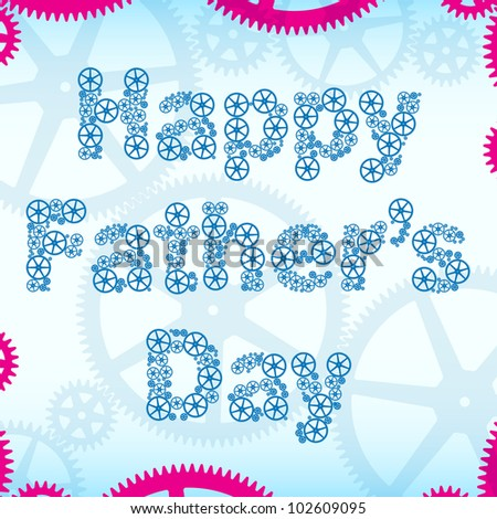 Happy fathers day greeting card stock vector 102609095 shutterstock happy fathers day greeting card m4hsunfo Image collections