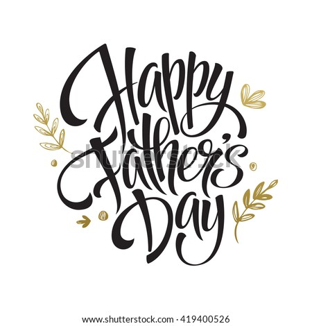 Happy Father's Day Greeting card - stock vector