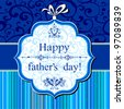 Happy Father's Day! Greeting card. Vector Illustration - stock photo