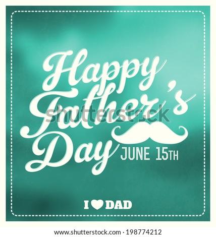 Happy Father's Day Typographic Design - stock vector