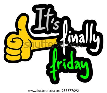 Happy Friday - stock vector