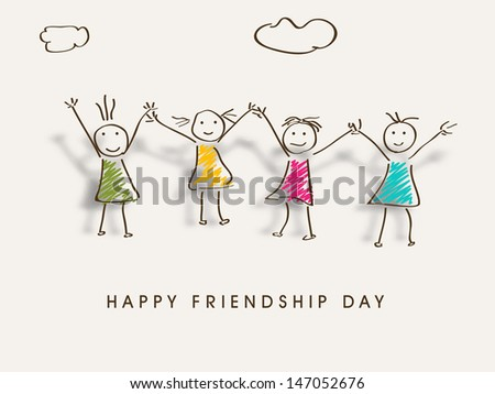 Happy Friendship Day background. - stock vector