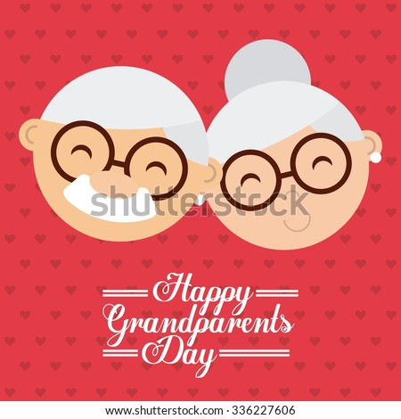happy grandparents day design, vector illustration eps10 graphic  - stock vector
