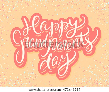 Happy grandparents day greeting card stock vector hd royalty free happy grandparents day greeting card m4hsunfo