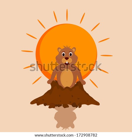 Happy Groundhog Day greeting Cards.Eps10 - stock vector