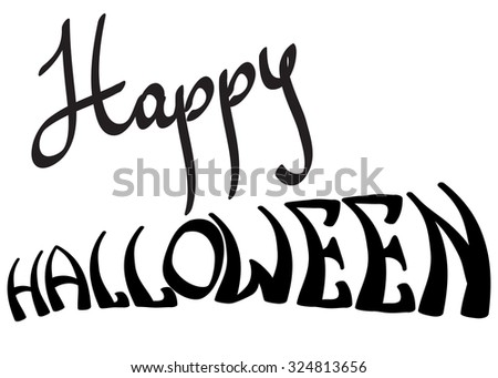 Happy Halloween calligraphy lettering isolated on white background.