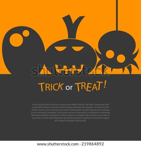 Happy Halloween card. - stock vector