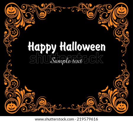 Happy Halloween! Celebration background with bat and place for your text. vector illustration Vector illustration  - stock vector