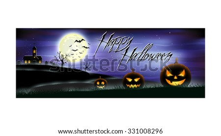 Happy Halloween colorful banner for web sites and networks. Vector illustration. EPS 10. - stock vector