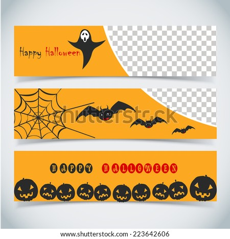 Happy Halloween day, vector illustration background and banner design .... - stock vector