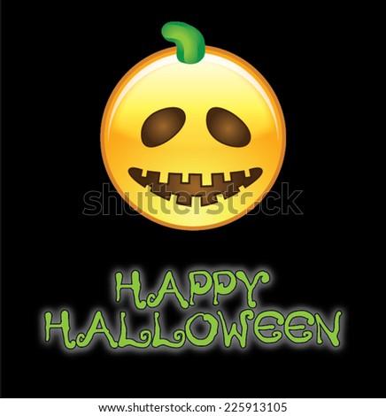 Happy Halloween Emoji Stock Vector 225913105 - Shutterstock