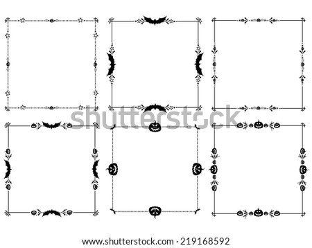 Happy Halloween! Frame isolated on White background. Celebration background with bat and place for your text. vector illustration Vector illustration  - stock vector