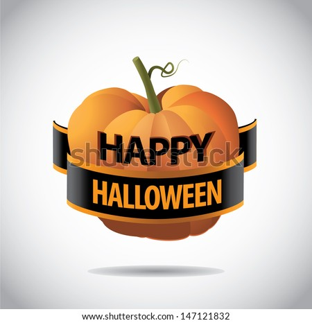 Happy Halloween greeting card design. EPS 10 vector, grouped for easy editing. No open shapes or paths. - stock vector