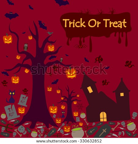 Happy Halloween holiday celebration background in vector