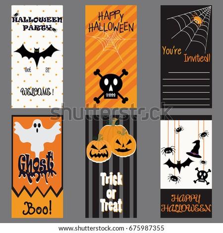 Happy halloween invitation card halloween party card stock vector happy halloween invitation card halloween party card stock vector royalty free 675987355 shutterstock stopboris Choice Image