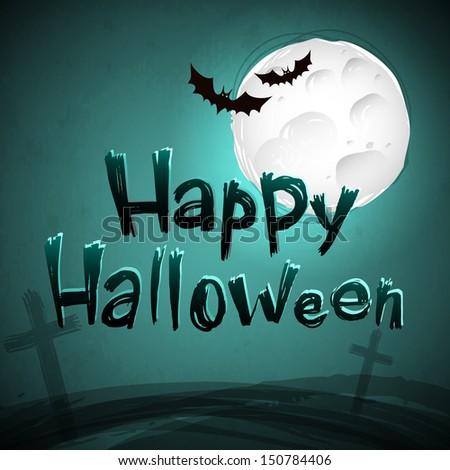 Happy Halloween message design background, vector illustration - stock vector