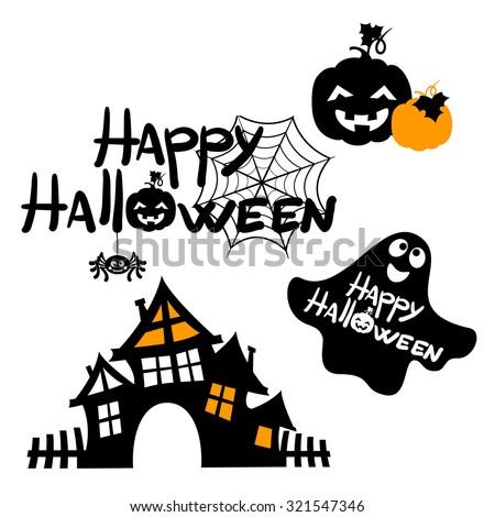 Happy Halloween message design background, vector illustration, Halloween border for design - stock vector