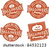 Happy Halloween Party Stamps - stock vector