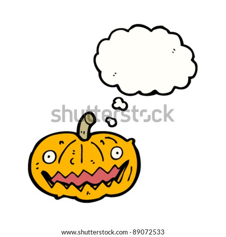 happy halloween pumpkin cartoon