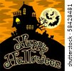 Happy Halloween theme 1 - vector illustration. - stock vector