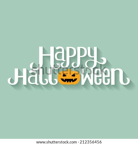 Happy Halloween Typography banner - stock vector