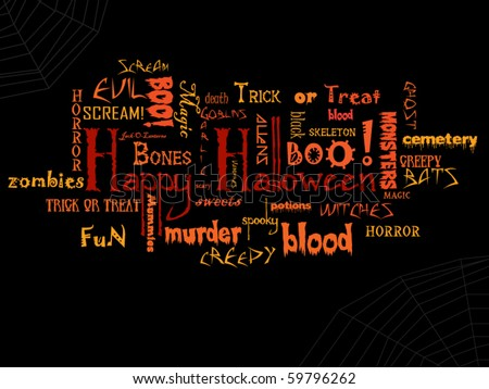 Happy Halloween vector (eps10) typography - stock vector