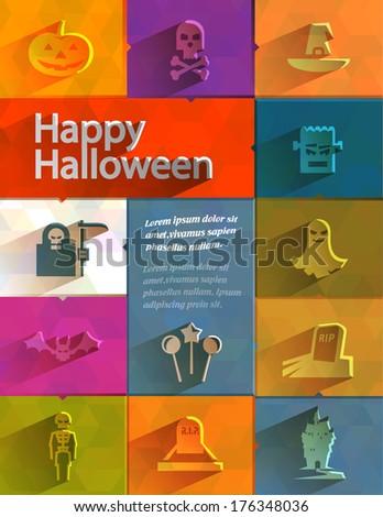 Happy Halloween. Vector format - stock vector