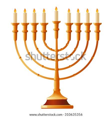 Happy Hanukkah. Vector illustration. - stock vector