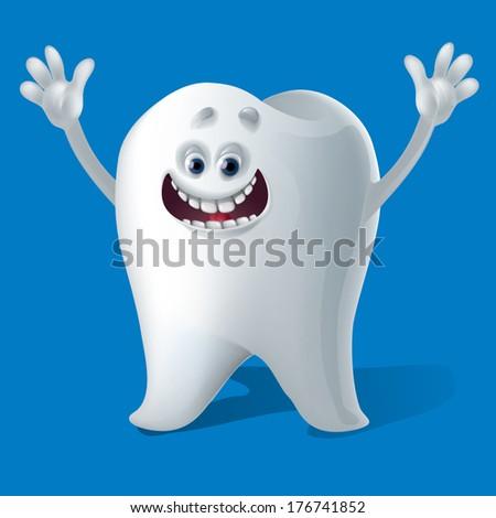 happy healthy tooth - stock vector