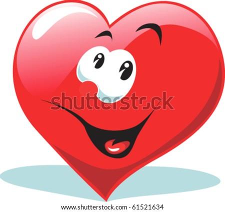 Happy heart - stock vector