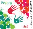 Happy Holi card in vector format. - stock vector