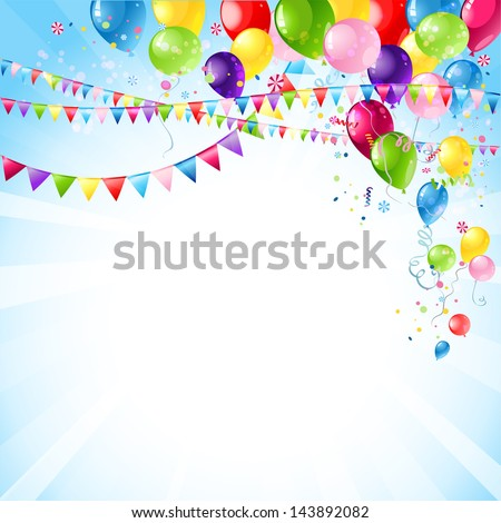 Happy holiday background with space for text - stock vector