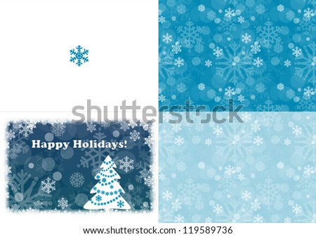 Happy Holidays card template - stock vector