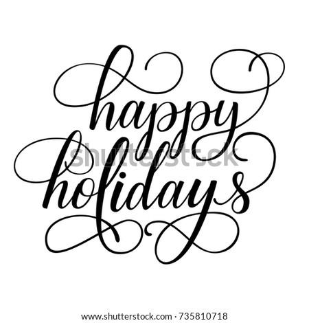 happy holidays white background