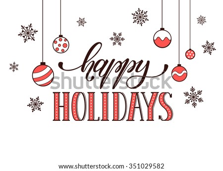 Happy Holidays Postcard Template Modern New Stock Vector (2018 ...