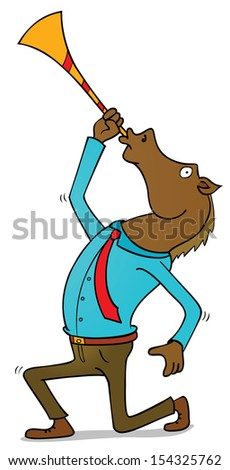 happy horseman - stock vector