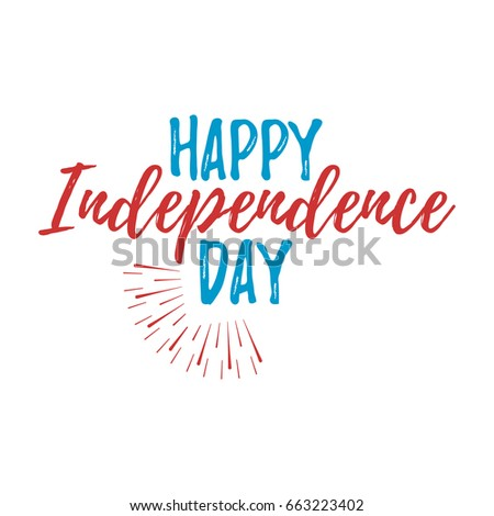 Happy independence day greeting card font stock vector hd royalty happy independence day greeting card with font vector illustration m4hsunfo