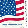 Happy independence day on US flag - stock vector