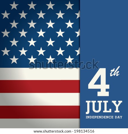 Happy Independence Day Poster, 4th of July. - stock vector