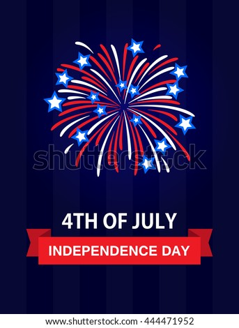 Happy independence day 4th july united stock vector royalty free happy independence day the 4th of july united states of america usa fireworks m4hsunfo
