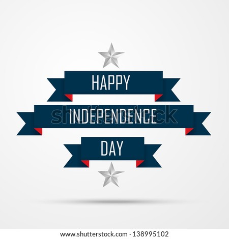 happy independence day vector background - stock vector