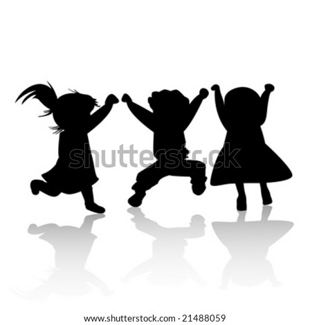 happy kids - stock vector